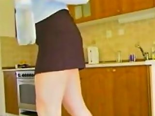 Fat Ass Slut With Big Tits Eats Dick In Her Kitchen